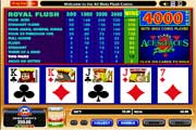 Play Free Aces and Faces Video Poker